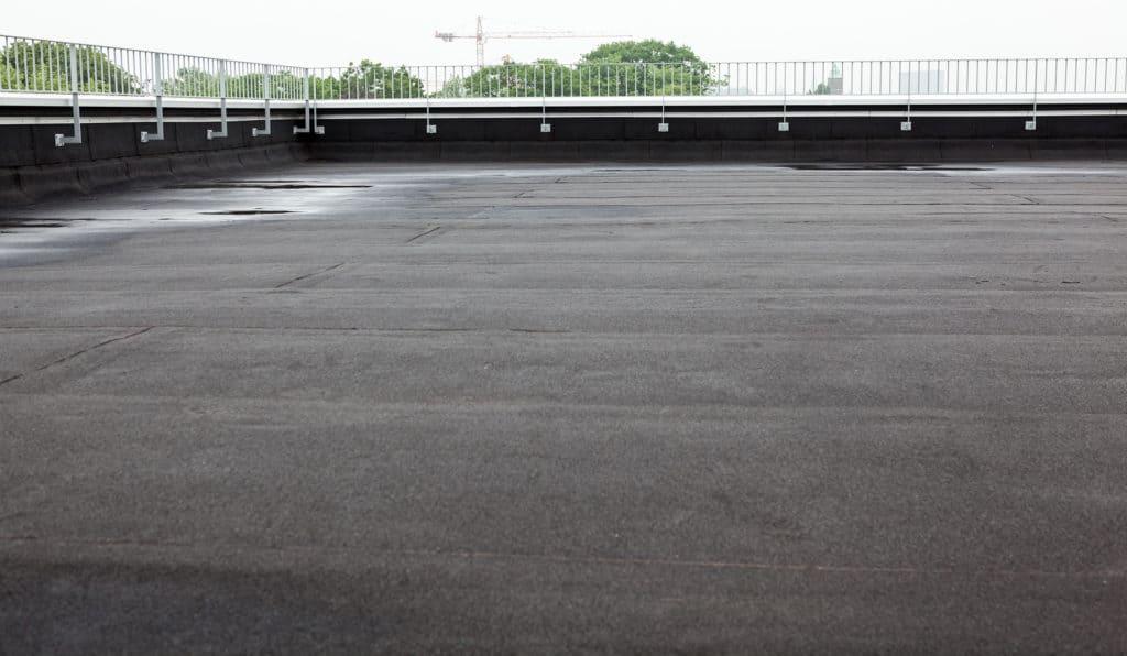 Flat top asphalt commercial roof